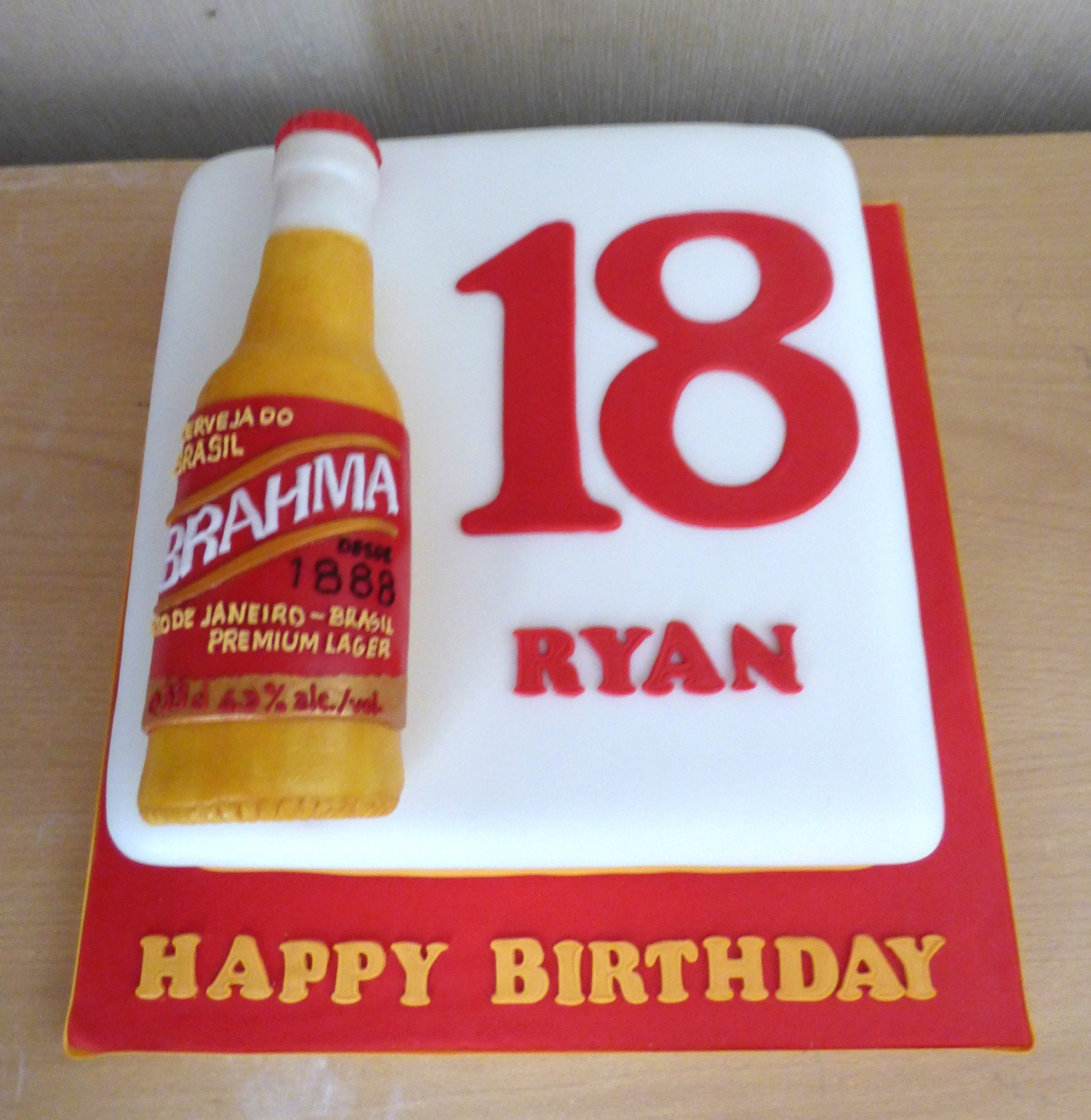 Fantastic Brahma Lager Bottle Birthday Cake Susies Cakes Personalised Birthday Cards Epsylily Jamesorg