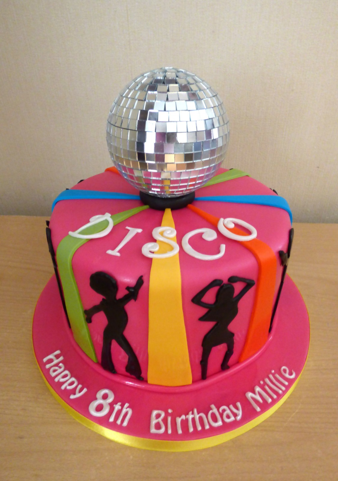 Disco Themed Birthday Cake With Glitter Ball 171 Susie S Cakes