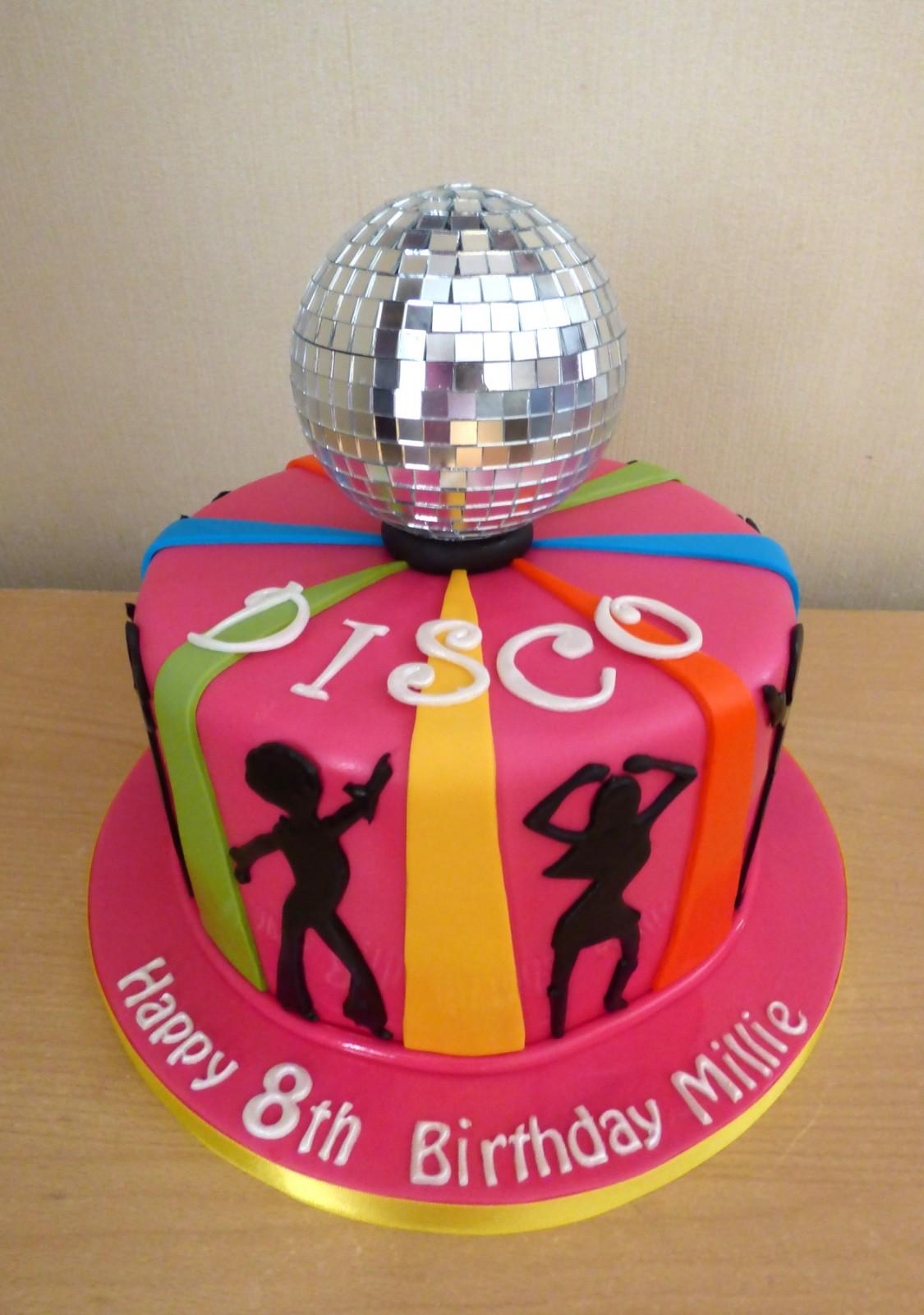 Glitter Ball Birthday Cake
