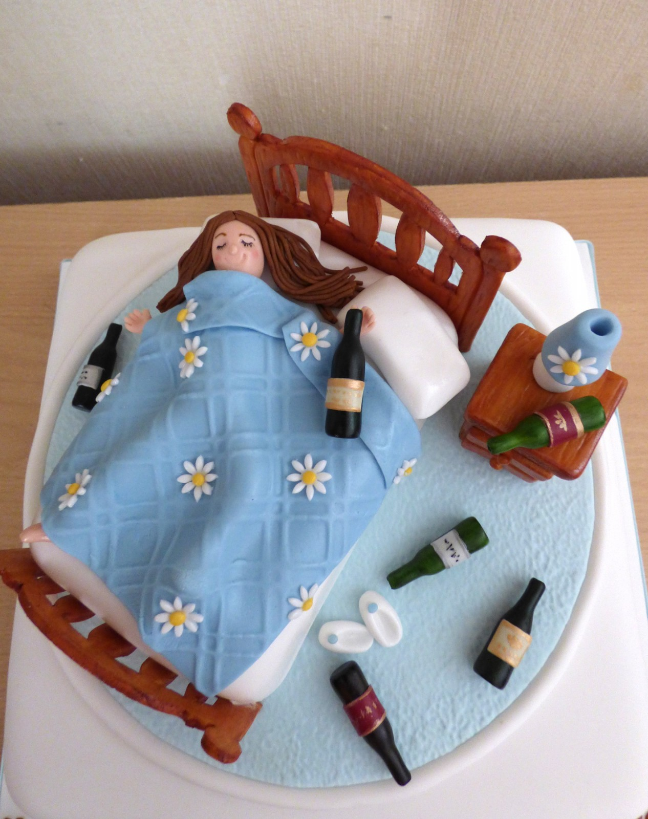 Incredible Drunk In Bed 40Th Birthday Cake Susies Cakes Personalised Birthday Cards Arneslily Jamesorg