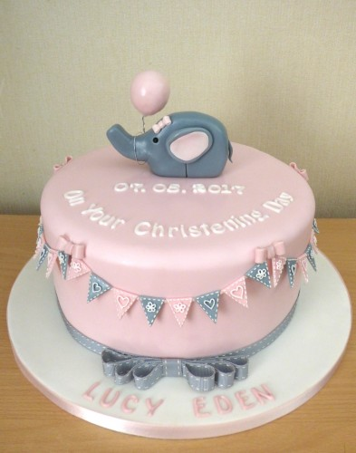 elephant-and-balloon-christening-cake