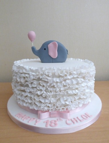 elephant-ruffle-18th-birthday-cake