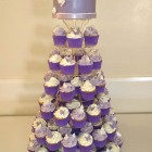 lilac-cupcake-tower-wedding-cake