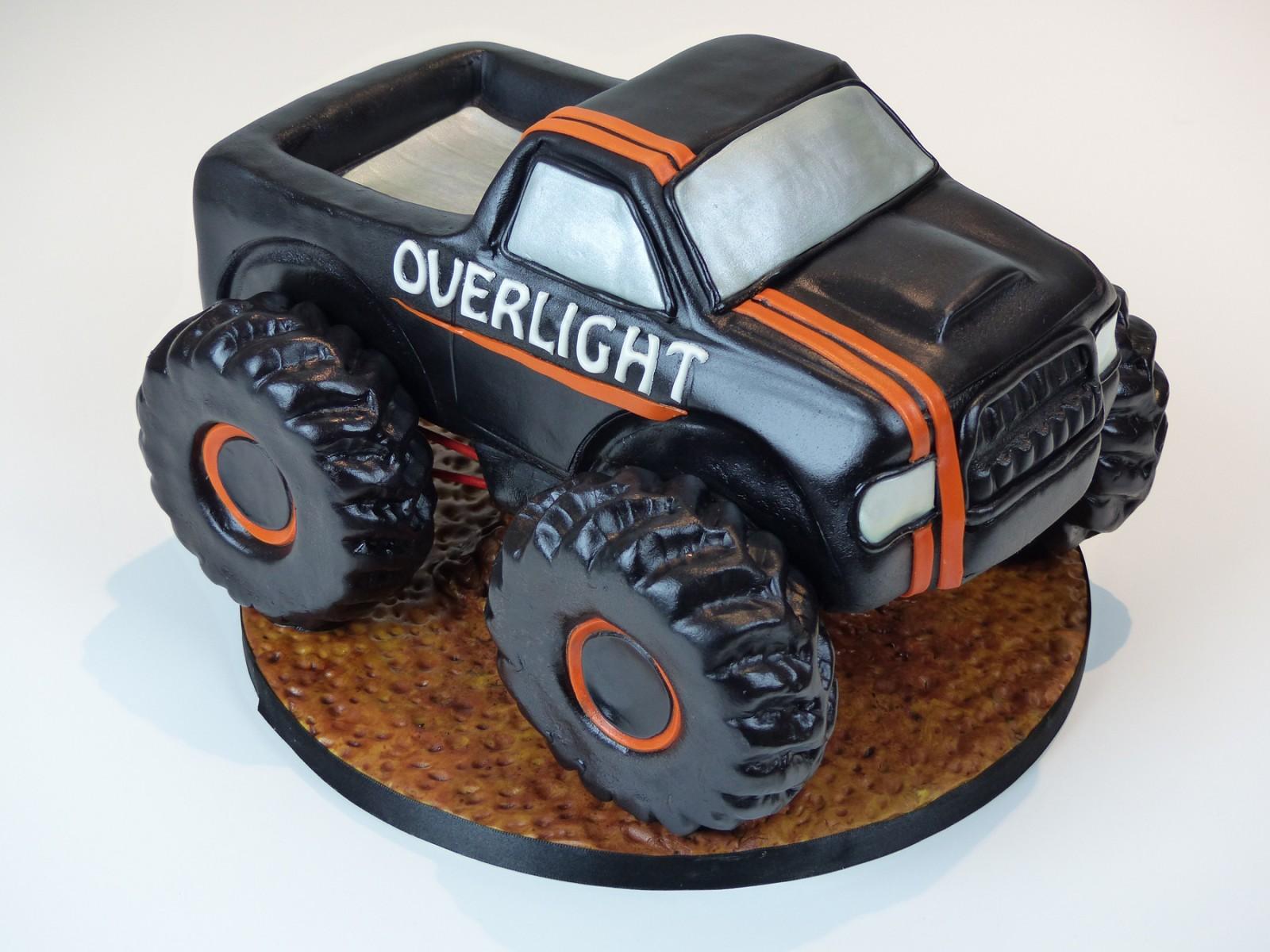 Pleasant Monster Truck Birthday Cake Susies Cakes Personalised Birthday Cards Veneteletsinfo