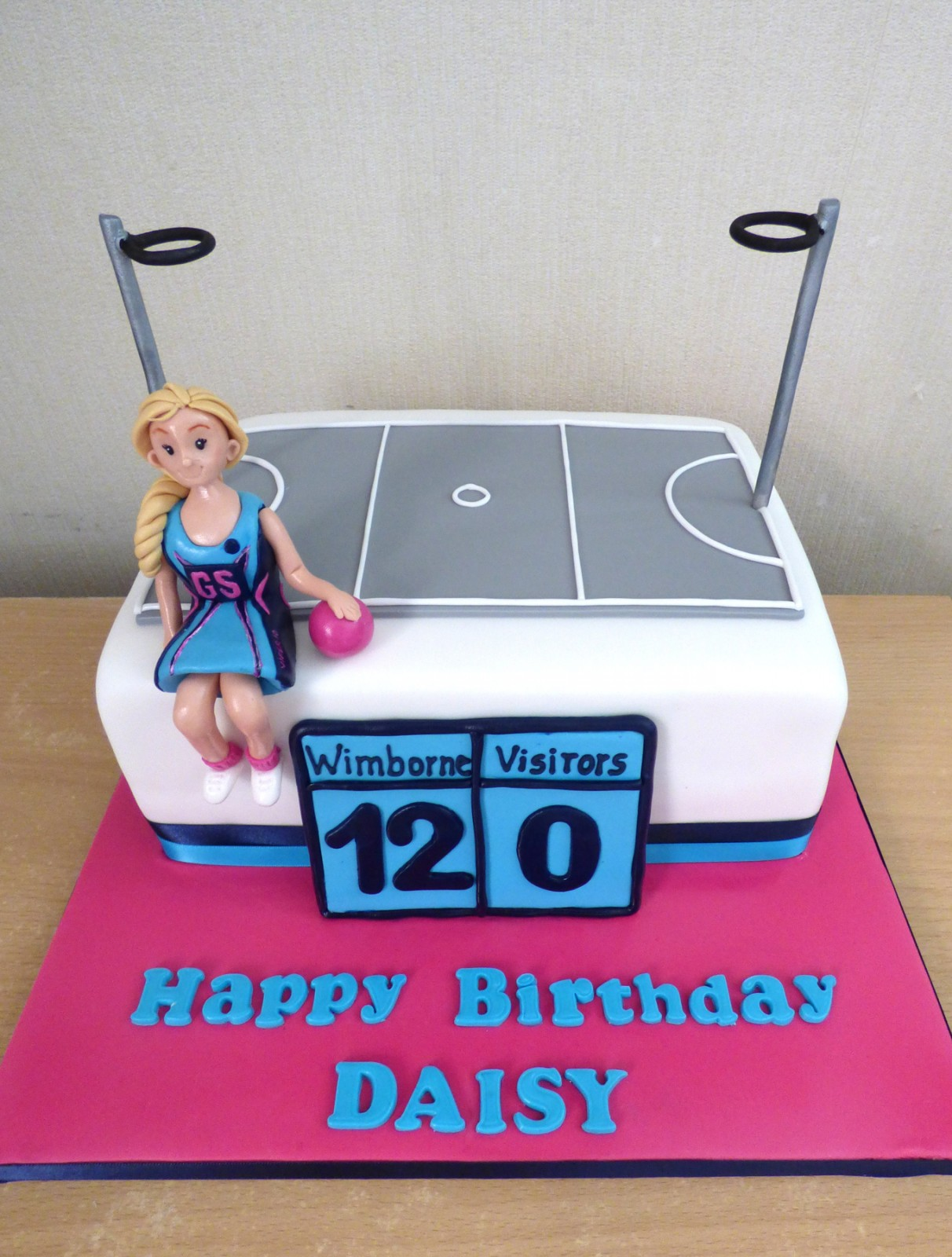 Awesome Wimborne Netball Club Themed Birthday Cake Susies Cakes Funny Birthday Cards Online Alyptdamsfinfo