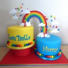 rainbow-linked-2-tier-birthday-cake