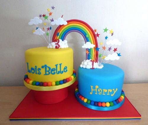 rainbow-linked-2-tier-birthday-cake