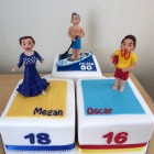 trio-of-celebration-cakes-latin-dancer-paddle-boarder-life-guard