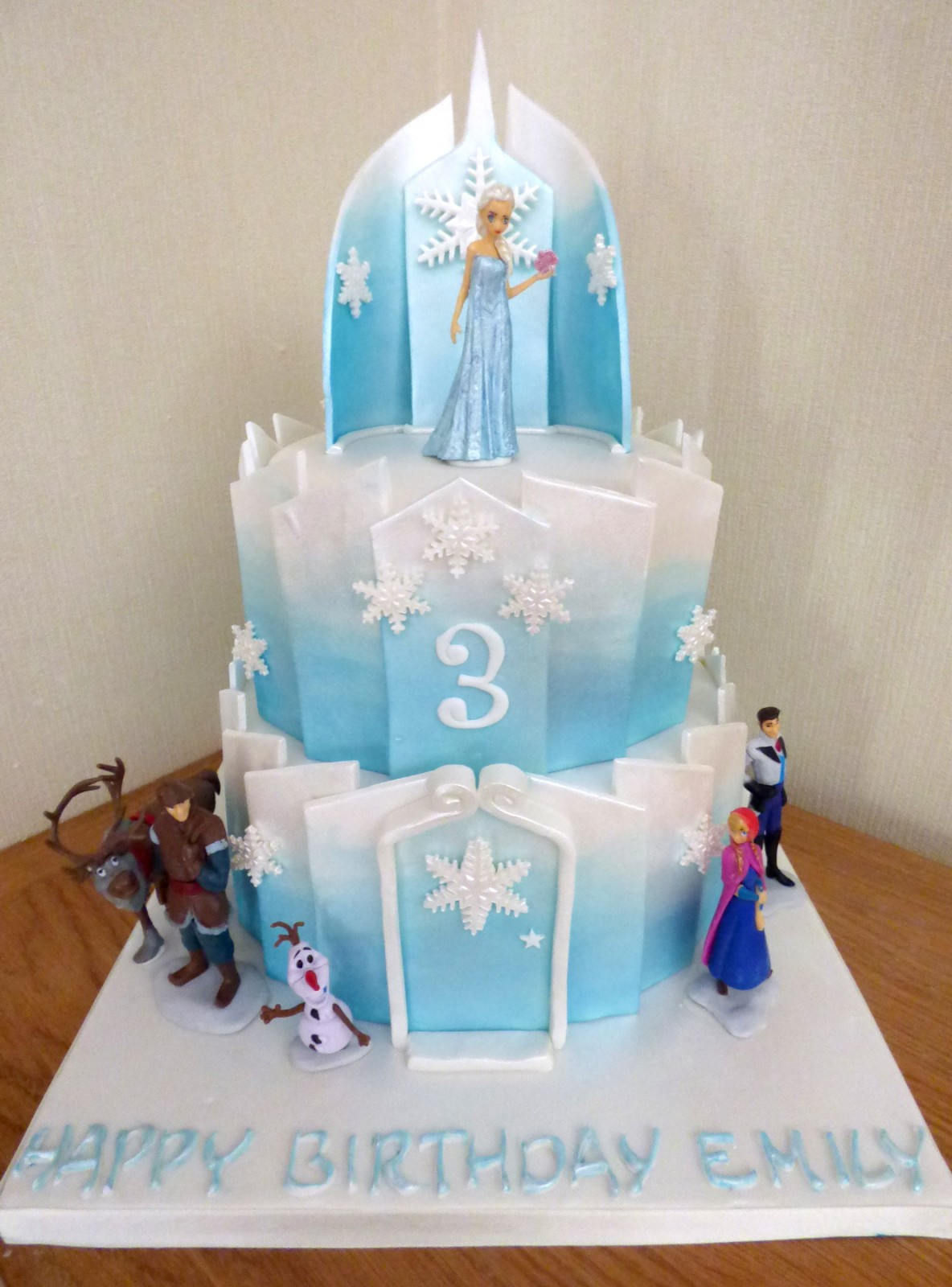 Fine 2 Tier Frozen Themed Birthday Cake Susies Cakes Birthday Cards Printable Nowaargucafe Filternl