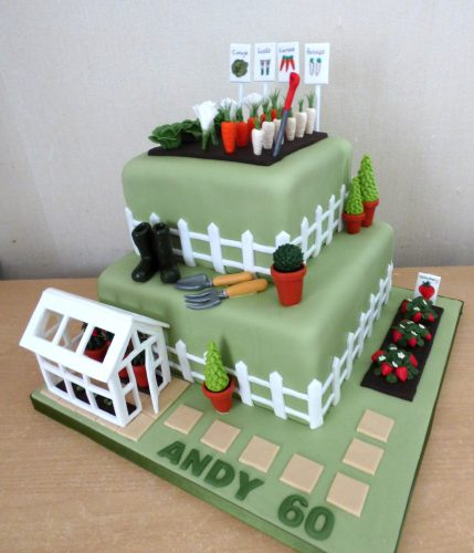 2-tier-gardeners-themed-birthday-cake-allotment-green-house