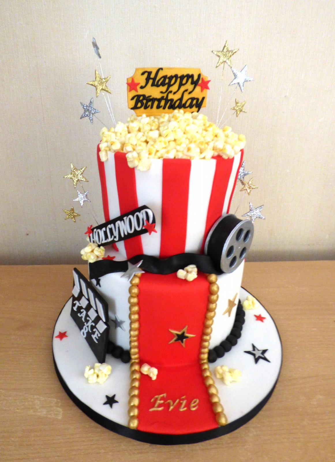 Terrific 2 Tier Movie Themed Birthday Cake Susies Cakes Funny Birthday Cards Online Bapapcheapnameinfo