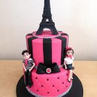 2-tier-paris-inspired-birthday-cake