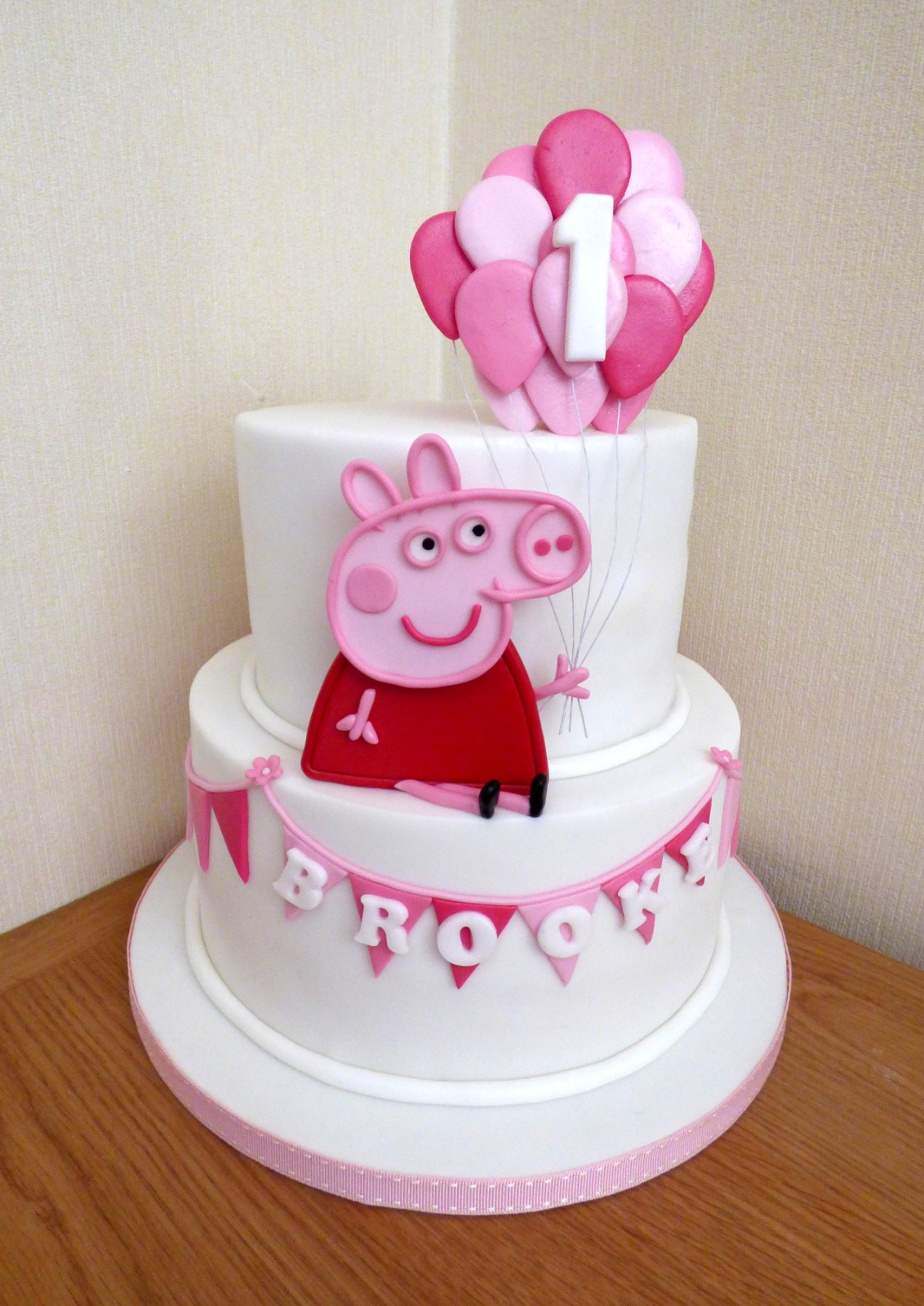 Pleasing 2 Tier Peppa Pig Inspired Birthday Cake Susies Cakes Funny Birthday Cards Online Overcheapnameinfo