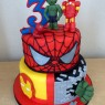 2-tier-super-heroes-birthday-cake-spider-man-hulk-iron-man thumbnail