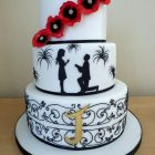 3-tier-personalised-wedding-cake-with-poppies-engagement-fireworks