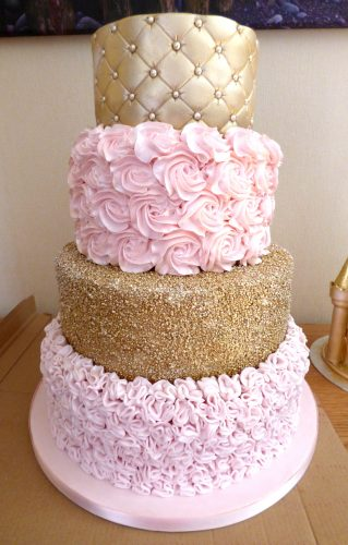 4-tier-textured-wedding-cake