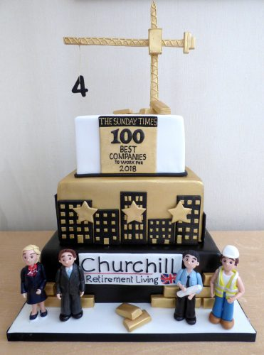 churchill-retirement-living-4th-place-sunday-times-best-companies-to-work-for-celebration-3-tier-cake