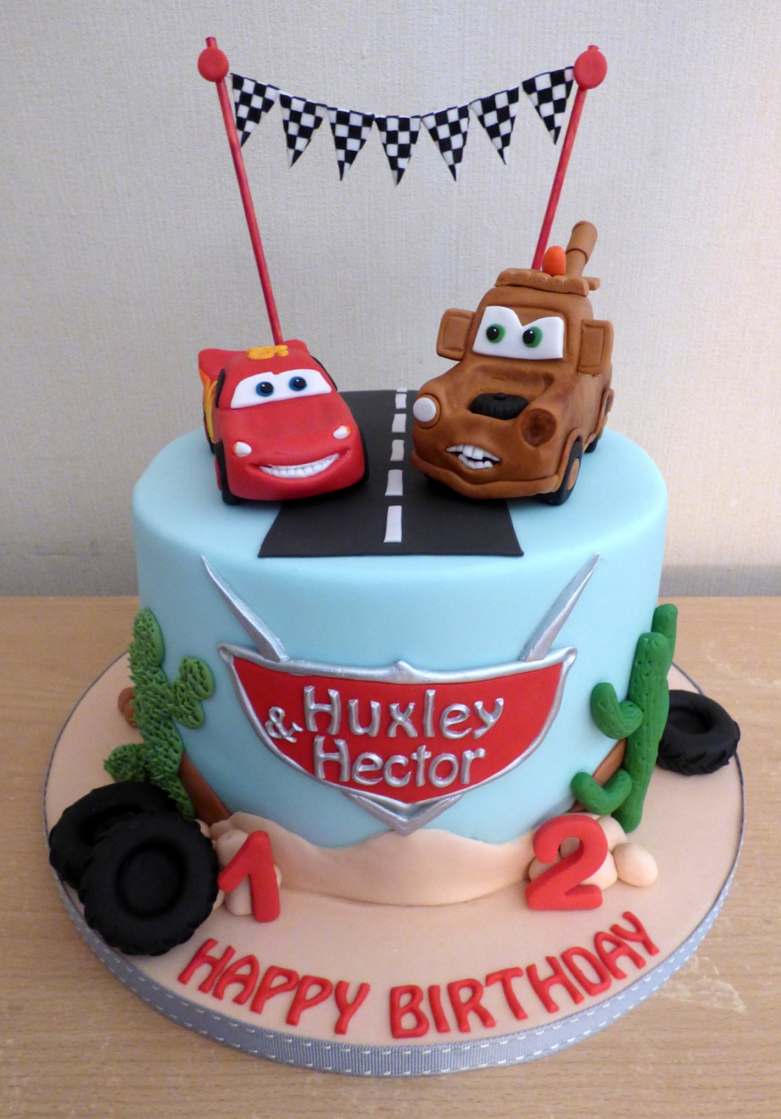 Pleasing Disney Pixar Cars Themed Birthday Cake Susies Cakes Funny Birthday Cards Online Alyptdamsfinfo