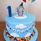elephant-with-balloons-1st-birthday-cake