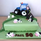 farmer-and-new-holland-tractor-birthday-cake
