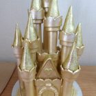 gold-castle-wedding-cake-topper