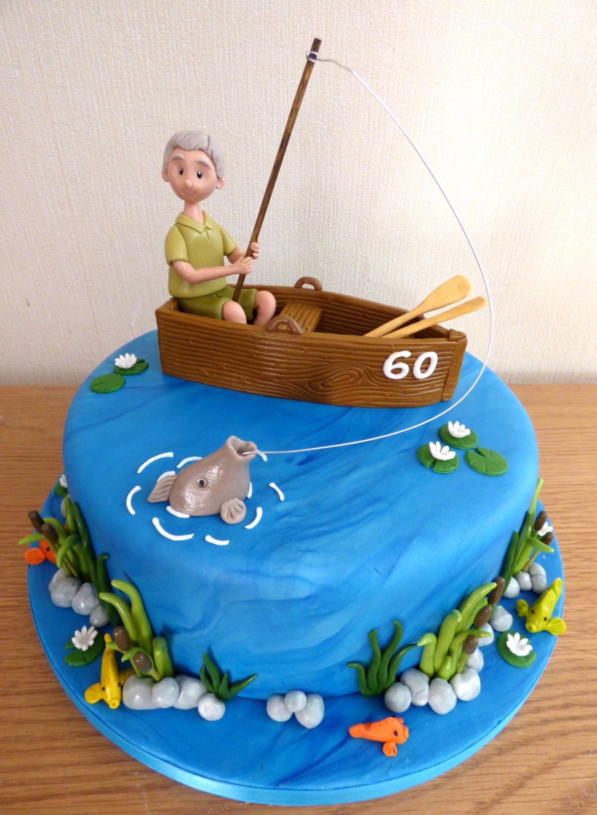 Amazing Gone Fishing Birthday Cake Susies Cakes Funny Birthday Cards Online Elaedamsfinfo