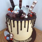 kinder-chocolate-overload-drizzle-birthday-cake