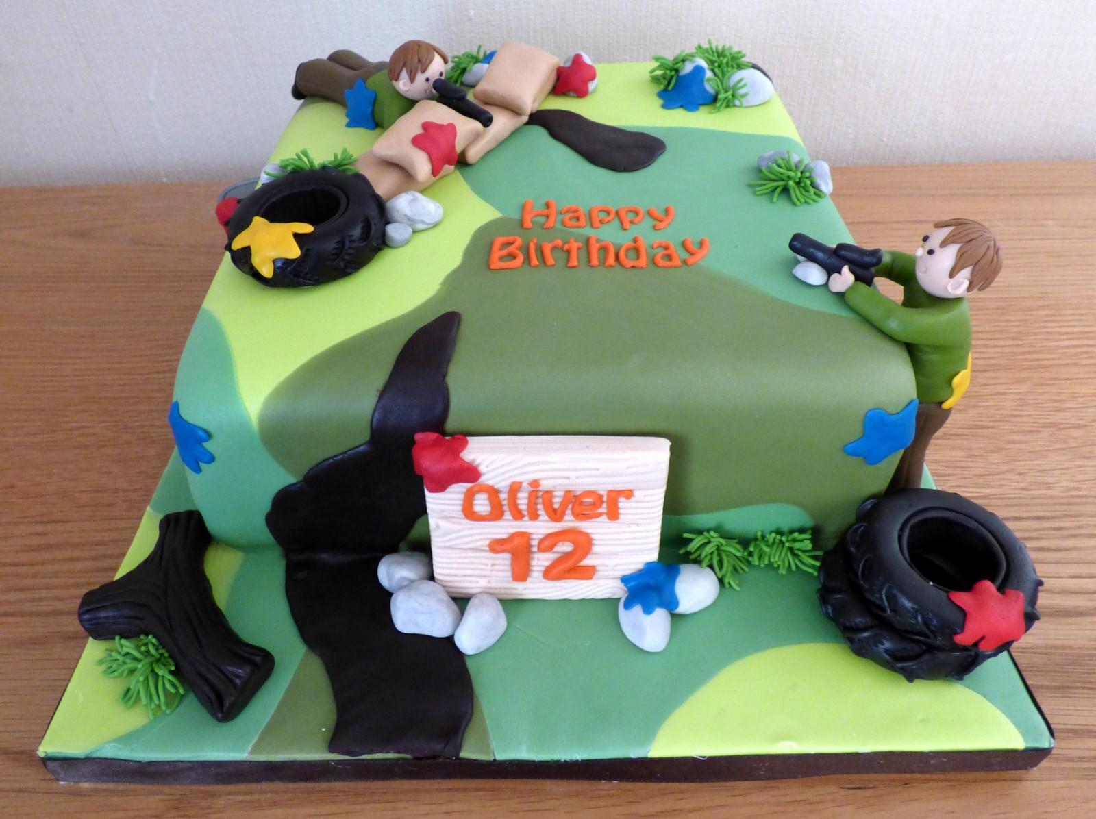 Remarkable Paintball Themed Birthday Cake Susies Cakes Birthday Cards Printable Giouspongecafe Filternl