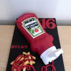 tomato-ketchup-squeezy-bottle-with-chips-birthday-cake