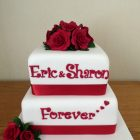 2-tier-40th-wedding-anniversary-cake