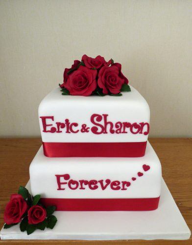 2-tier-40th-wedding-anniversary-cake