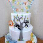 2-tier-animal-themed-baby-shower-cake-for-a-boy