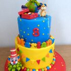 2-tier-clown-themed-birthday-cake