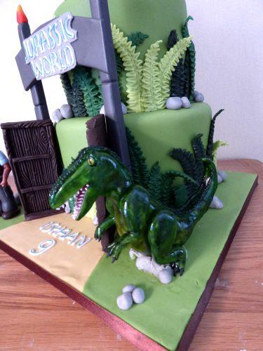 2-tier-jurassic-world-themed-birthday-cake