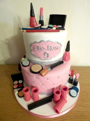2-tier-pamper-party-make-up-rollers-birthday-cake