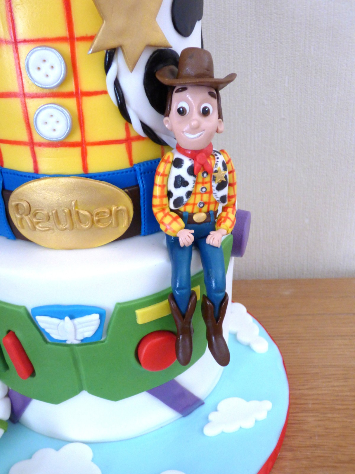Pleasing 2 Tier Toy Story Birthday Cake Woody And Buzz Themed Susies Cakes Funny Birthday Cards Online Inifofree Goldxyz