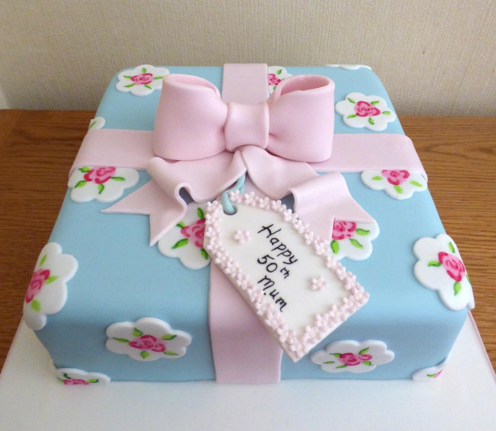 Admirable Cath Kidston Style Birthday Present Cake Susies Cakes Funny Birthday Cards Online Drosicarndamsfinfo