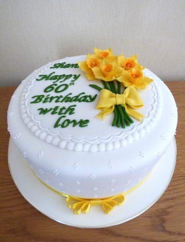 daffodil-themed-birthday-cake