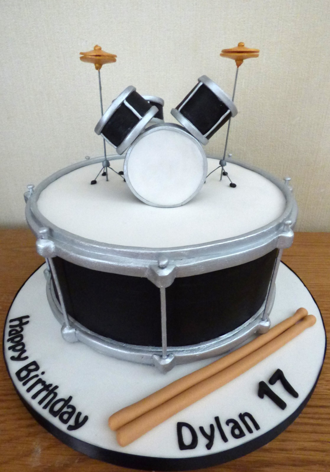Fine Drummers Drum Kit Birthday Cake Susies Cakes Funny Birthday Cards Online Bapapcheapnameinfo
