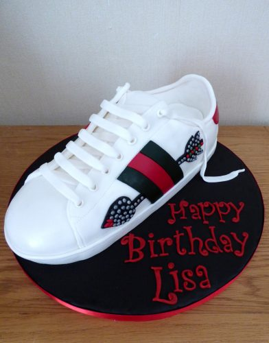 gucci-arrow-designer-trainer-birthday-cake