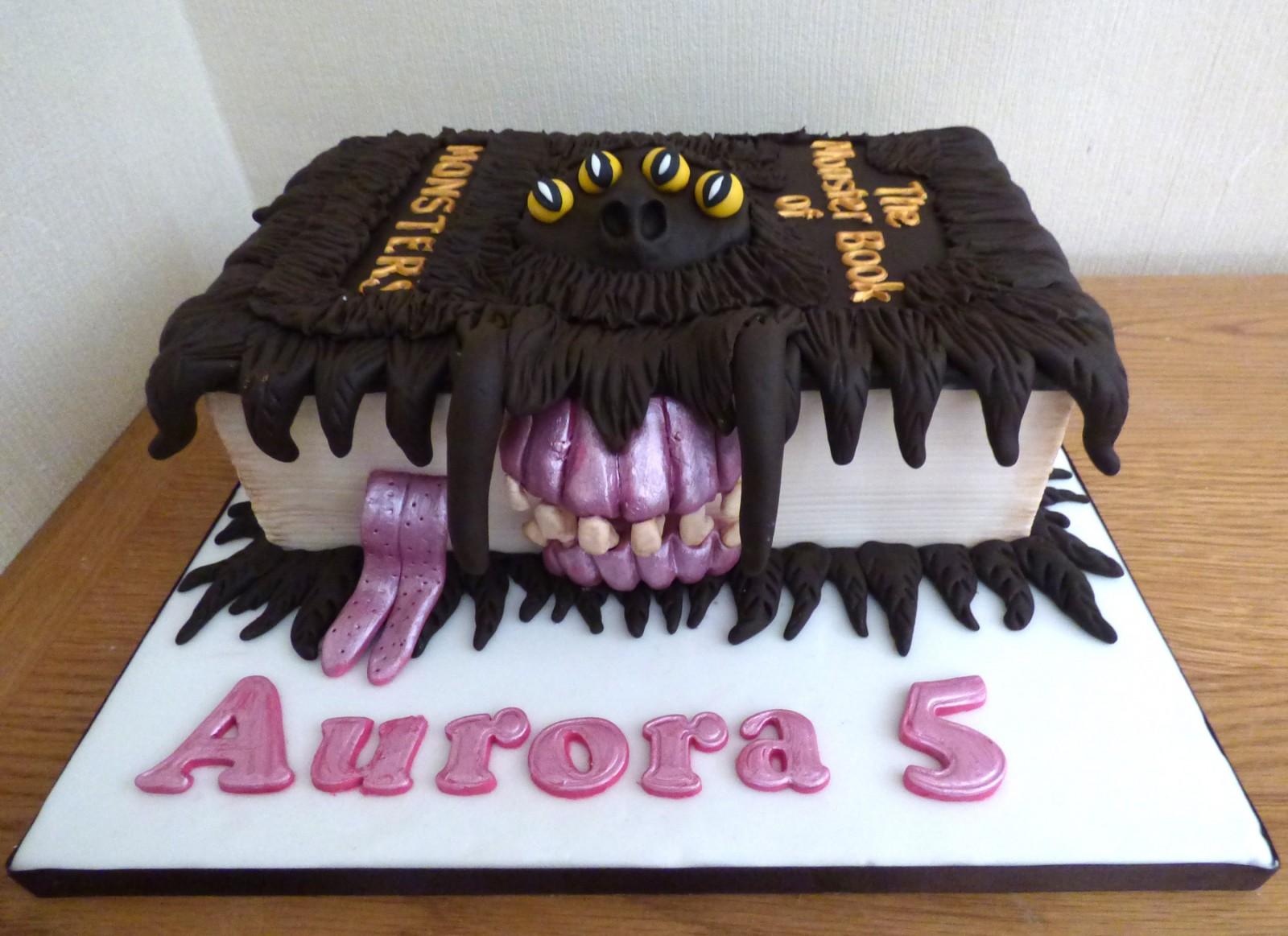 Terrific Harry Potter Monster Book Of Monsters Birthday Cake Susies Cakes Personalised Birthday Cards Arneslily Jamesorg
