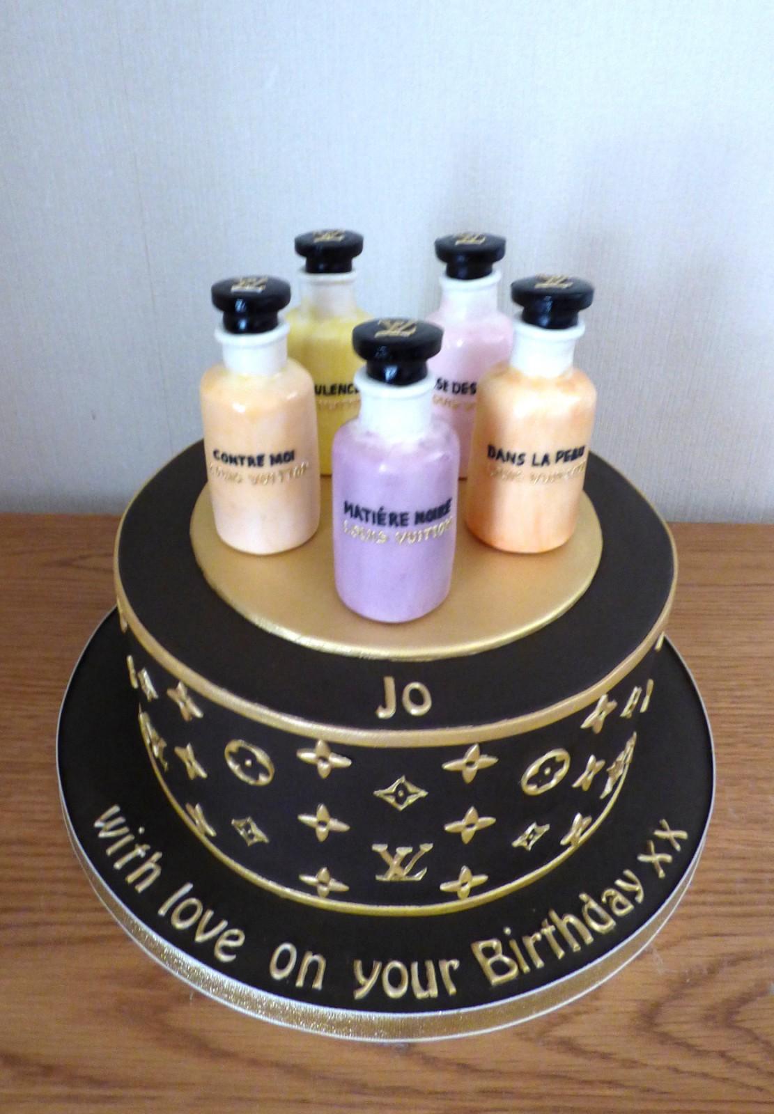 Stupendous Louis Vuitton Perfume Bottles Birthday Cake Susies Cakes Funny Birthday Cards Online Necthendildamsfinfo