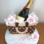 luois-vuitton-bag-with-champagne-and-roses-birthday-cake-