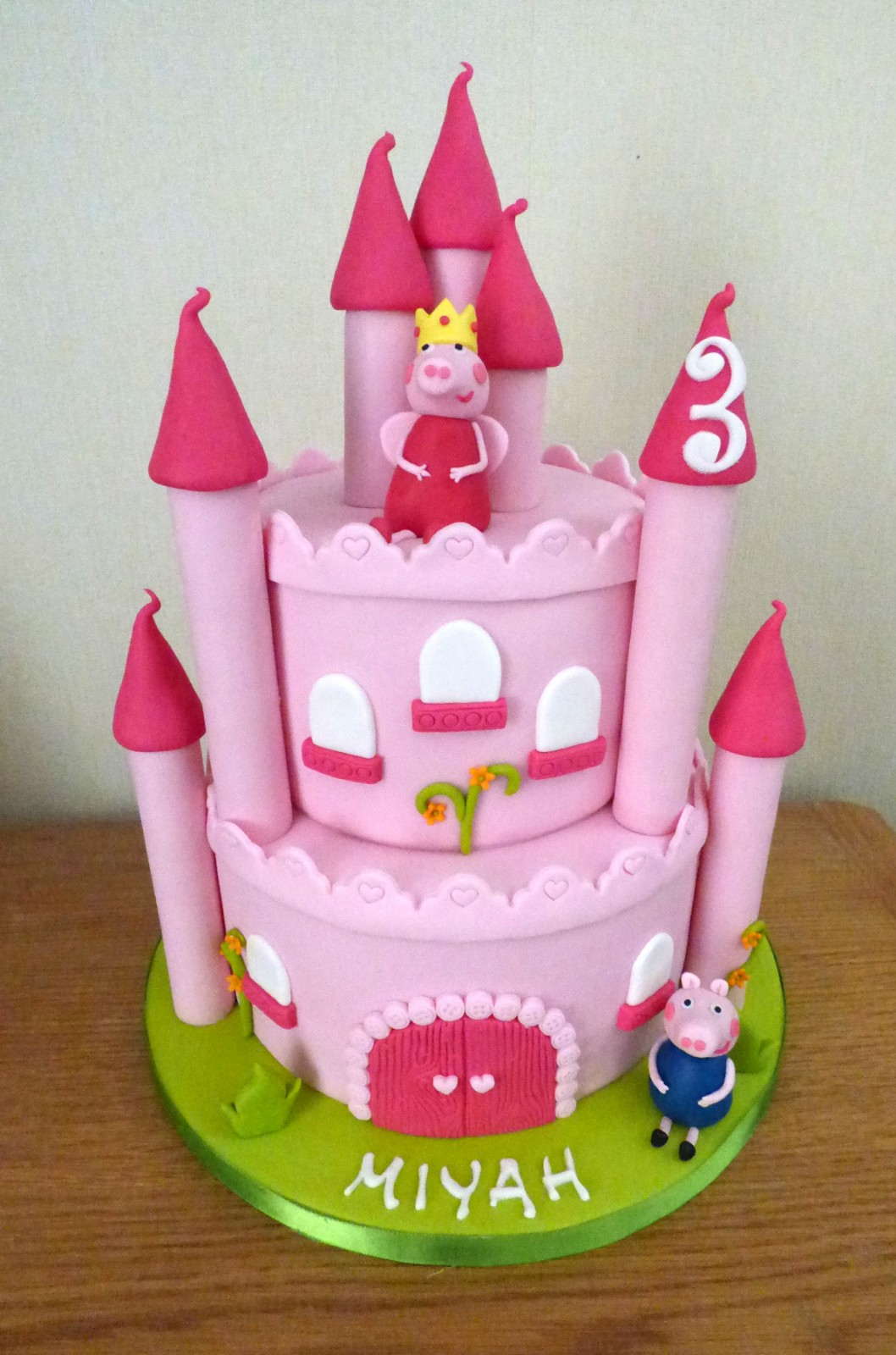 Excellent Peppa Pig Castle Birthday Cake Susies Cakes Funny Birthday Cards Online Overcheapnameinfo