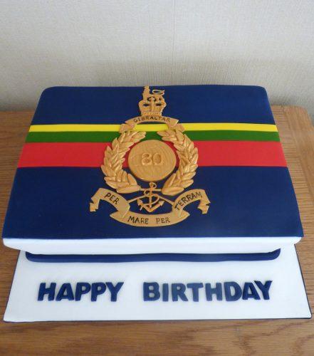 Royal Marines Flag Birthday Cake
