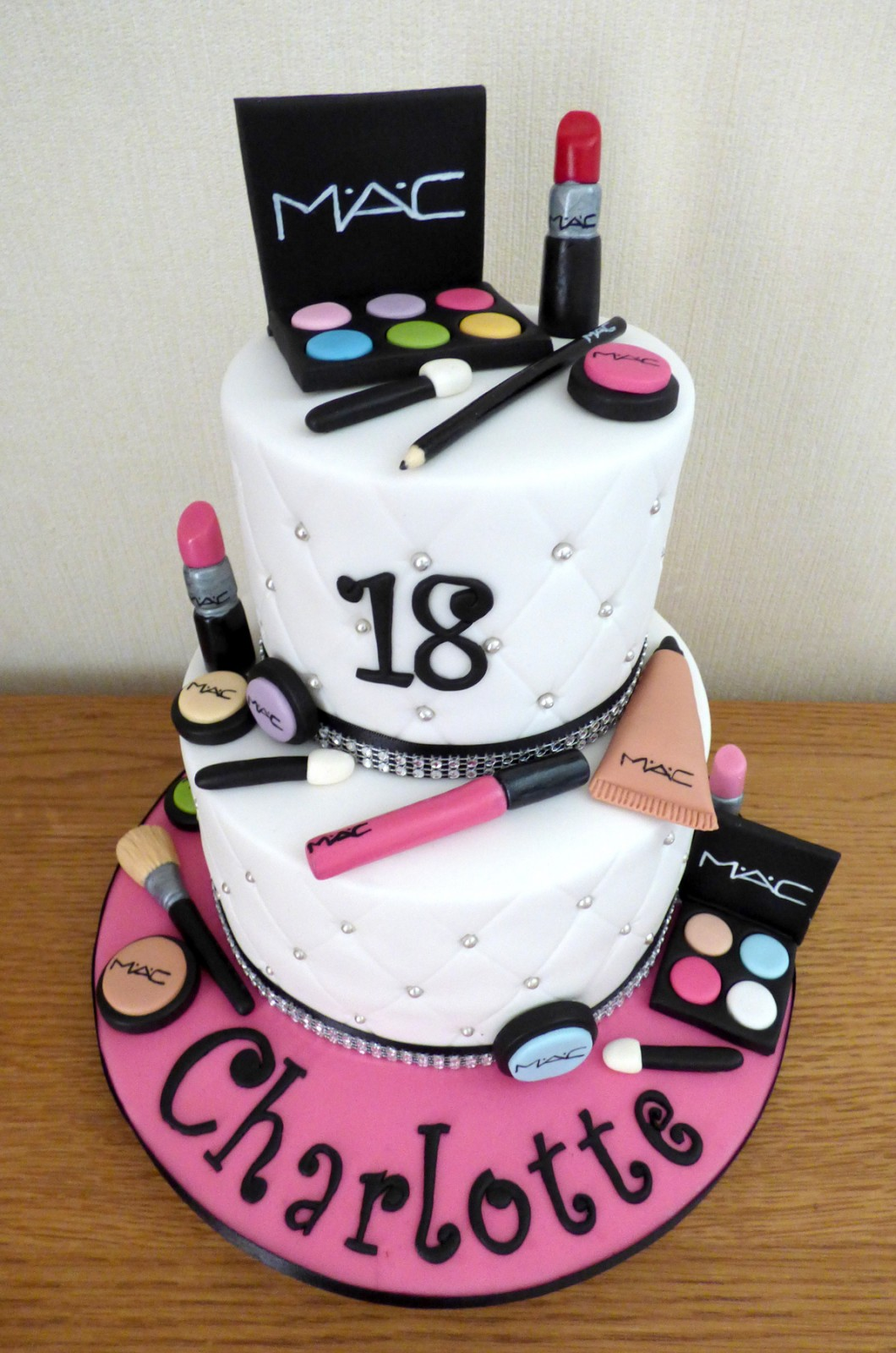 2 Tier Mac Make Up Pamper Party Birthday Cake Susie S Cakes