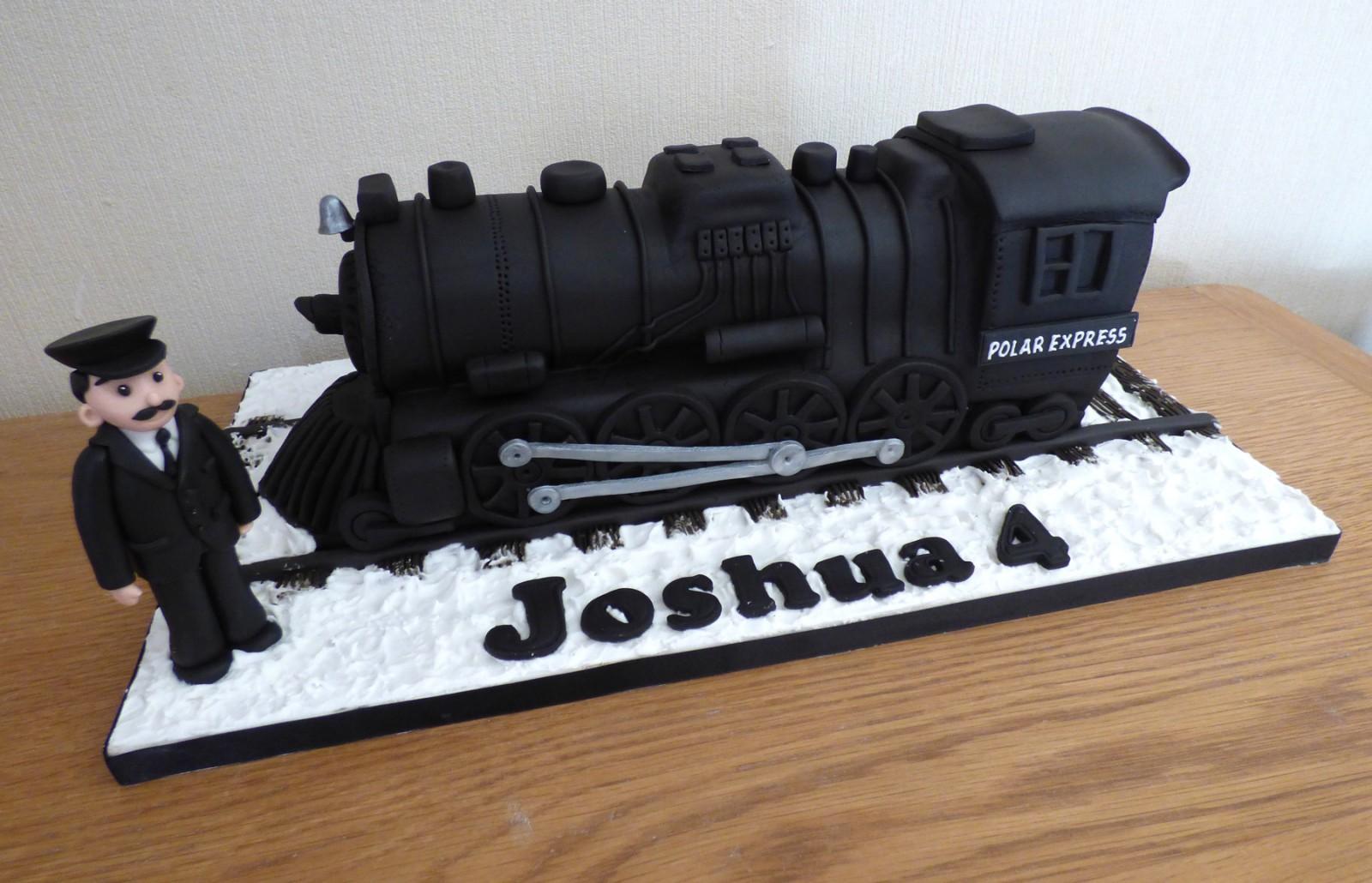 Swell Polar Express Engine Birthday Cake Susies Cakes Funny Birthday Cards Online Fluifree Goldxyz