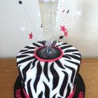 zebra-print-prosecco-birthday-cake