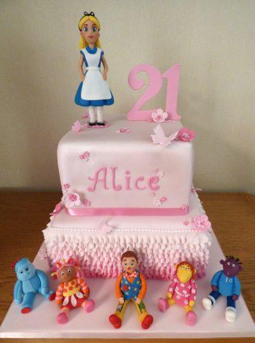 2-tier-alice-in-wonderland-multi-themed-birthday-cake-fondant-iggle-piggle-upsey-daisy-mr-tumble-tweenies-fizz-milo