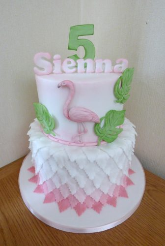 2-tier-flamingo-theme-birthday-cake-ombre